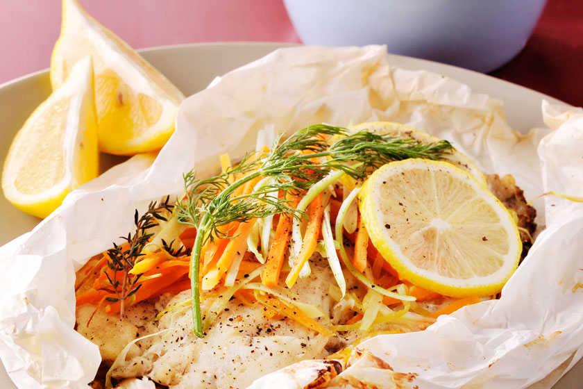 Herbed Fish En Papilotte