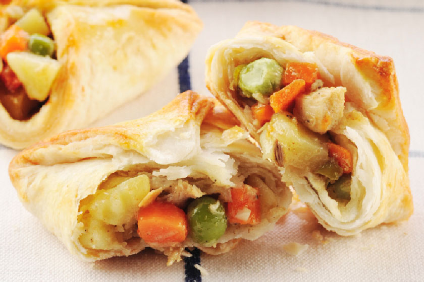 Chicken Vegetable Pockets