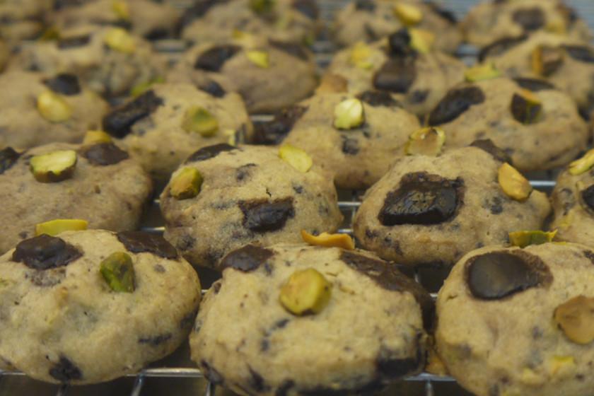 Dark Chocolate Pistachio Sea Salt Cookies