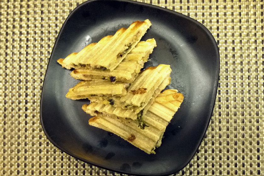 Spinach, Artichoke and Three Cheese Panini
