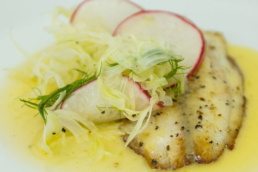 St. Peter's Fish with Beurre Blanc