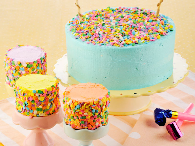 confetti-party-cake
