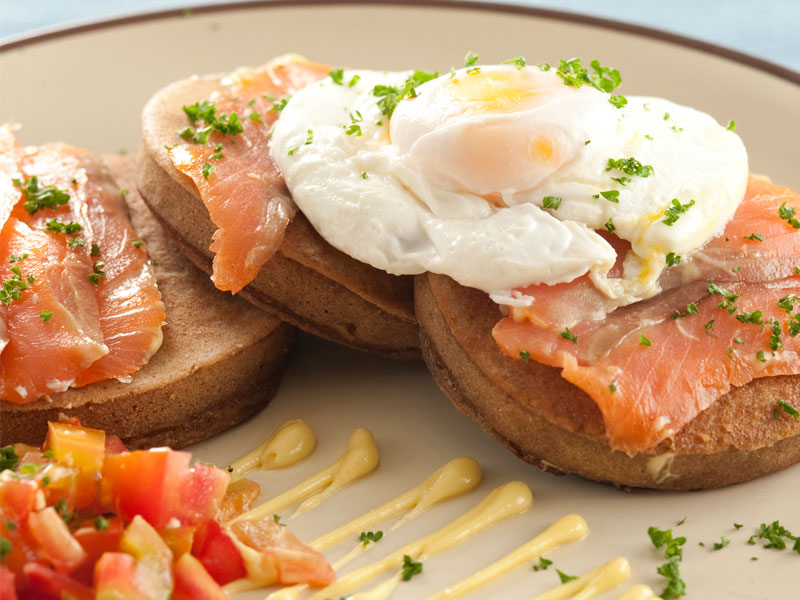 Eggs Benedict Style with Smoked Salmon