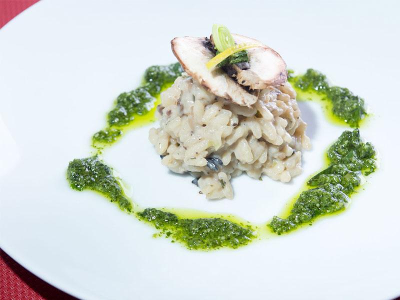 Shitake-Mushroom-Risotto-with-Coriander-Pesto