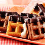 Black and White Waffle Cookies Recipe