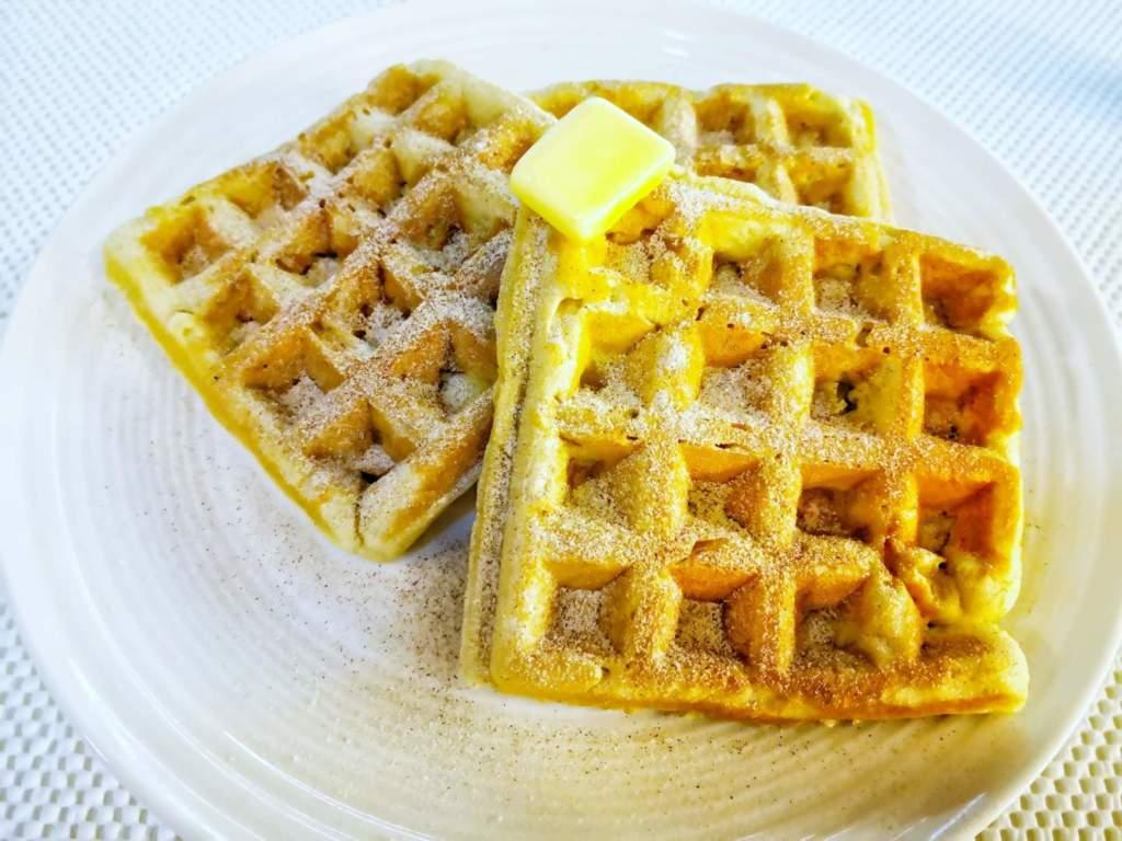 Banana Cinnamon Waffles