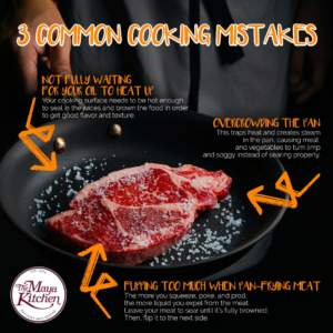 3 Common Cooking Mistakes