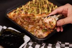 Salmon and Kanibo Baked Sushi