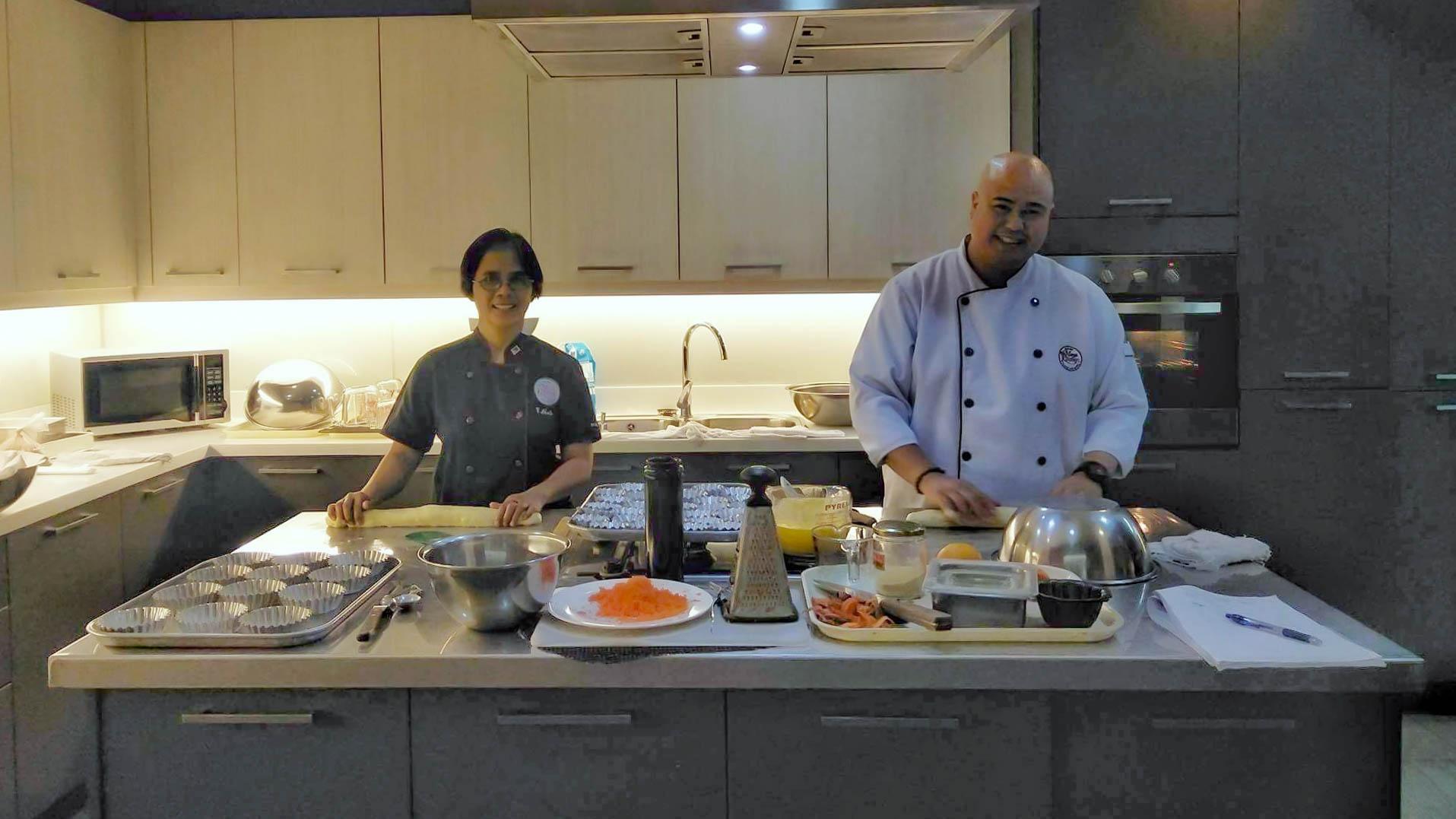 Chef Elvie and Dan