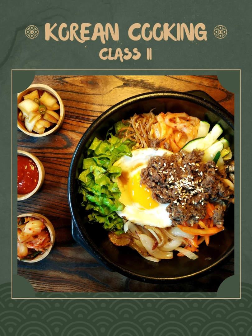Korean Online Cooking Class II (Bibimbap and 2 Banchan Recipes)